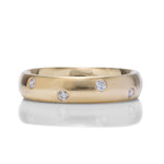Burnished Diamond Wedding Band - Charles Koll Jewellers