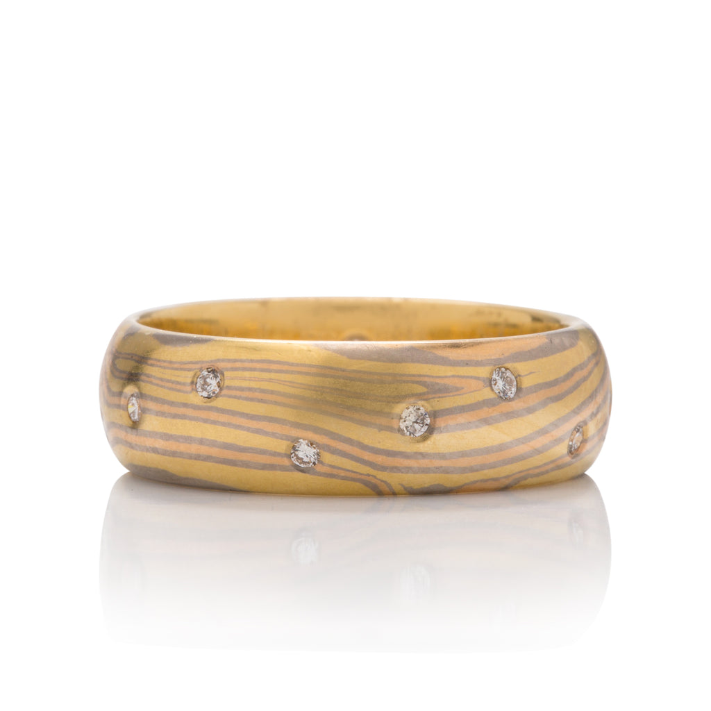 George Sawyer Mokume Gane Band - Charles Koll Jewellers