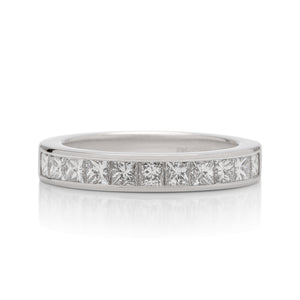 0.75 CTW Princess Cut Channel Set Wedding Band - Charles Koll Jewellers