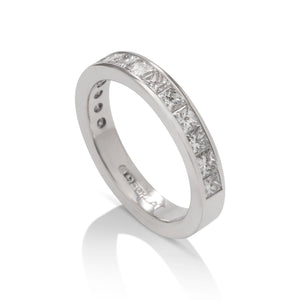 1.00 CTW Princess Cut Channel Set Band - Charles Koll Jewellers