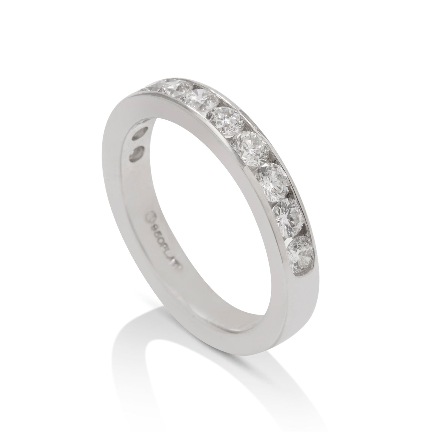 1.00 CTW Diamond Platinum Band - Charles Koll Jewellers