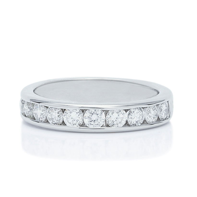 Channel Set Diamond Wedding Band - Charles Koll Jewellers