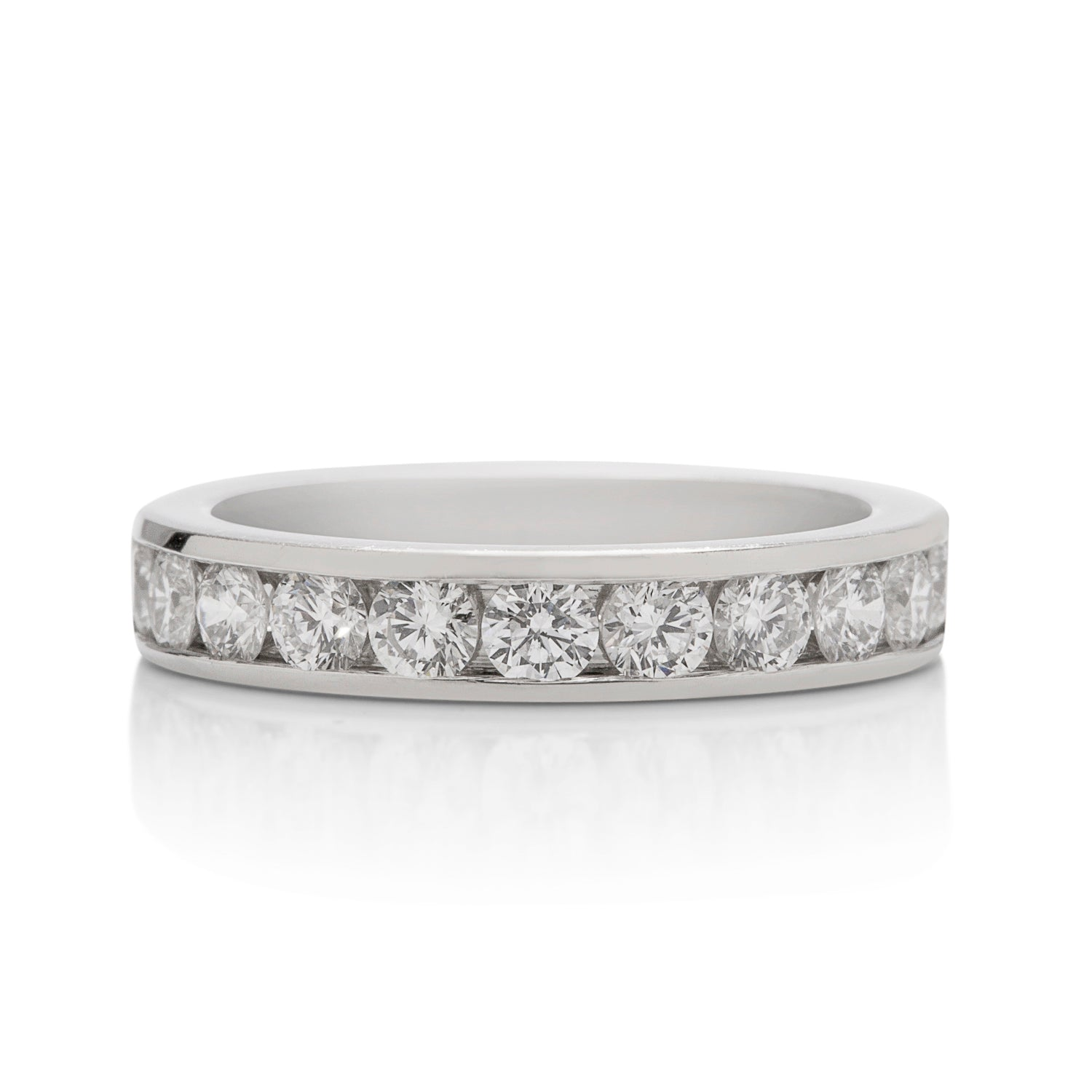 1.00 CTW Channel Set Diamond Platinum Band - Charles Koll Jewellers