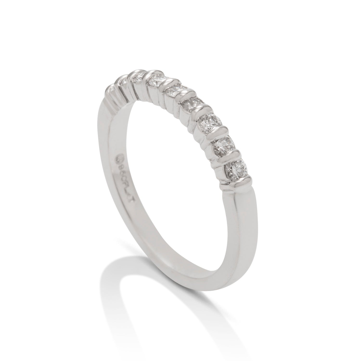 Bar Set Diamond Band - Charles Koll Jewellers