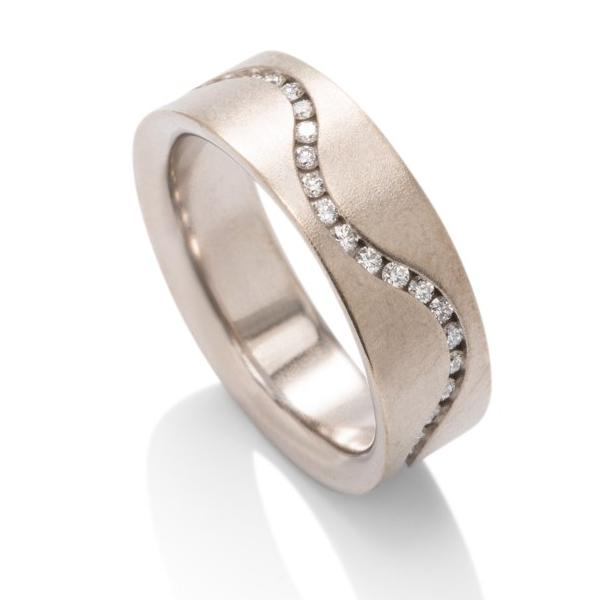Eternity Diamond Wave Ring - Charles Koll Jewellers