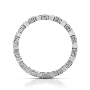 Princess and Round Diamond Band - Charles Koll Jewellers