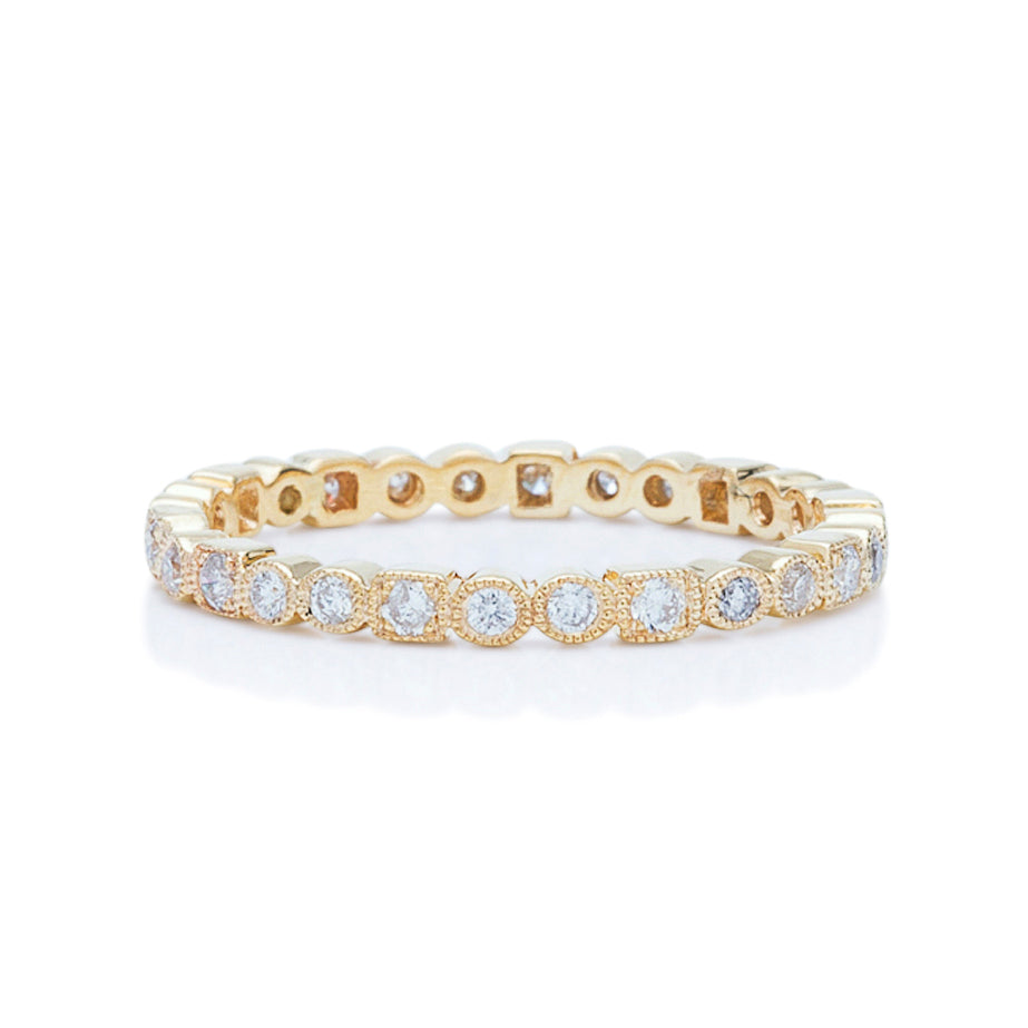 Yellow Gold Bezel Set Stackable Band - Charles Koll Jewellers