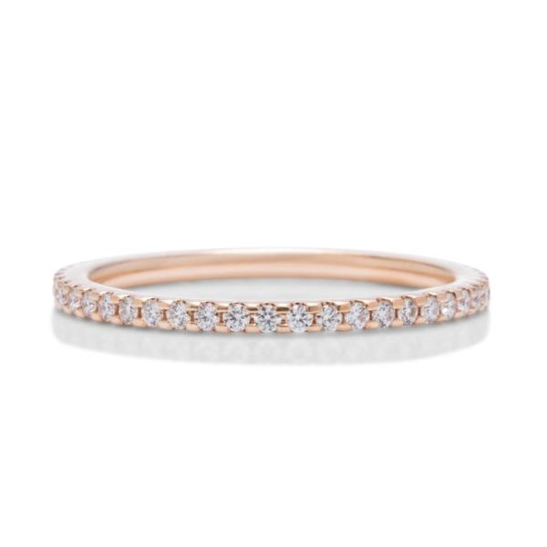 Rose Gold Shared Prong Eternity Band - Charles Koll Jewellers