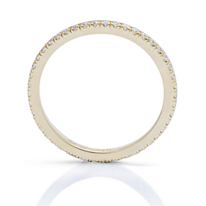 Yellow Gold Shared Prong Eternity Band - Charles Koll Jewellers