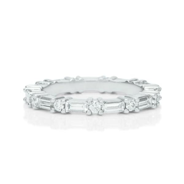 Round and Baguette Eternity Band - Charles Koll Jewellers