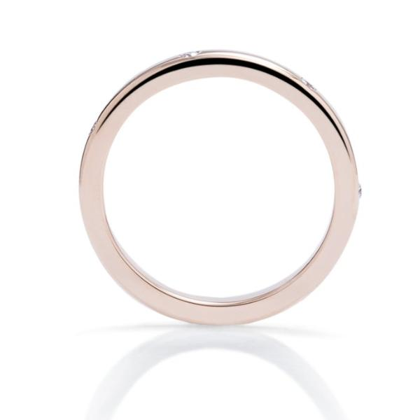 Rose Gold Band With Diamond Stations - Charles Koll Jewellers