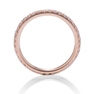 Rose Gold Diamond Eternity Band - Charles Koll Jewellers