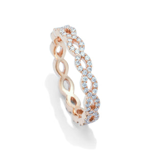 Rose Gold Weave Eternity Band