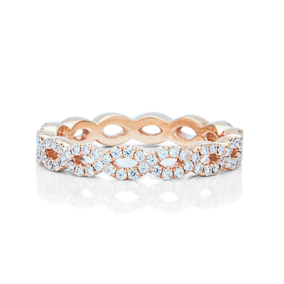 Rose Gold Weave Eternity Band - Charles Koll Jewellers