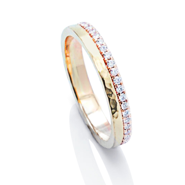 Two-Tone Yellow and Rose Gold Eternity Band - Charles Koll Jewellers