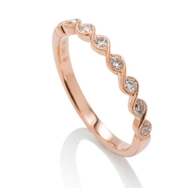 Rose Gold Twist Diamond Band - Charles Koll Jewellers