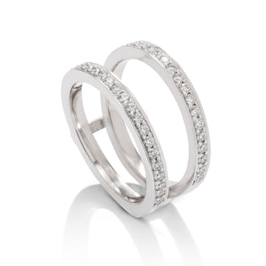 White Gold Diamond Ring Guard - Charles Koll Jewellers