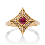 Ruby Star Ring - Charles Koll Jewellers