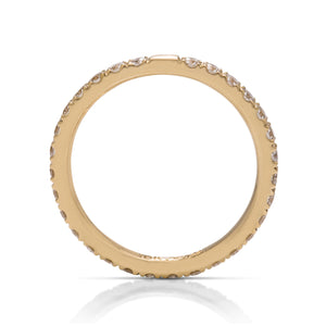 Diamond Eternity Band in Yellow Gold - Charles Koll Jewellers