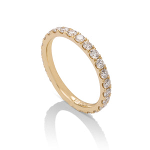 0.95 ctw Yellow Gold Diamond Eternity Band - Charles Koll Jewellers