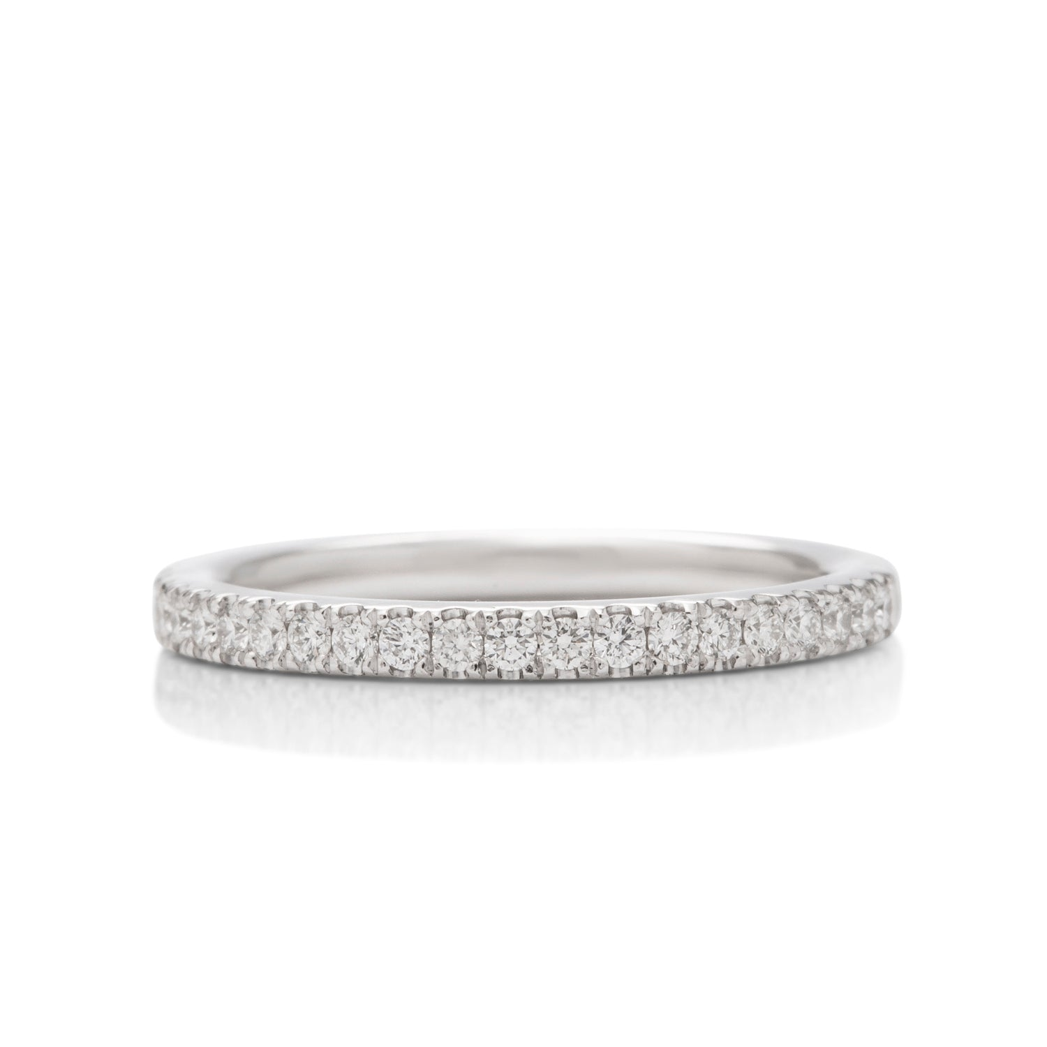 0.26 ctw White Gold 3/4 Diamond Band - Charles Koll Jewellers