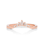 Fancy Diamond Curved Wedding Band - Charles Koll Jewellers