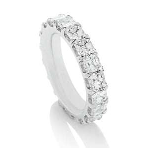 Asscher Eternity Band - Charles Koll Jewellers