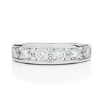 2:1 Channel Set Diamond Anniversary Band - Charles Koll Jewellers