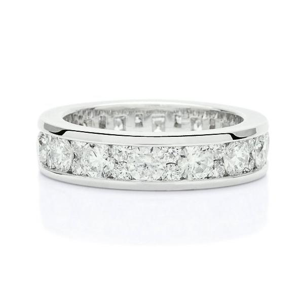 Channel Set Diamond Eternity Band - Charles Koll Jewellers