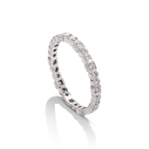 18k White Gold Diamond Band - Charles Koll Jewellers