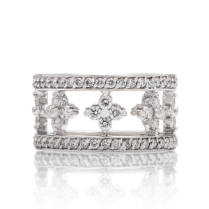 18k White Gold Diamond Cutout Fashion Ring - Charles Koll Jewellers