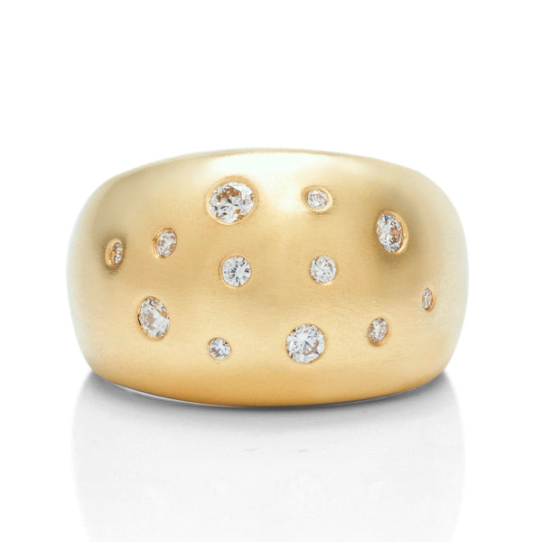 Yellow Gold Diamond Dome Ring - Charles Koll Jewellers