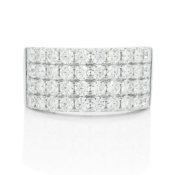 Truly Classic Four Row Diamond Band - Charles Koll Jewellers