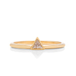 18k Gold Triangle Diamond Ring - Charles Koll Jewellers