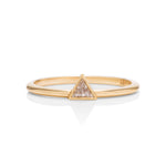 18k Gold Triangle Cut Diamond Ring - Charles Koll Jewellers