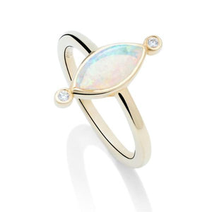 Opal and Diamond Ring - Charles Koll Jewellers