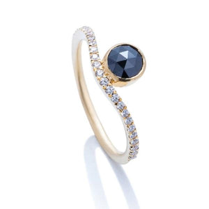 Black Diamond Impression Ring - Charles Koll Jewellers