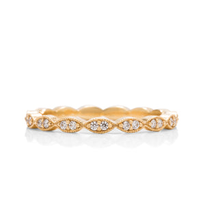 18k Gold Diamond Stackable Ring - Charles Koll Jewellers