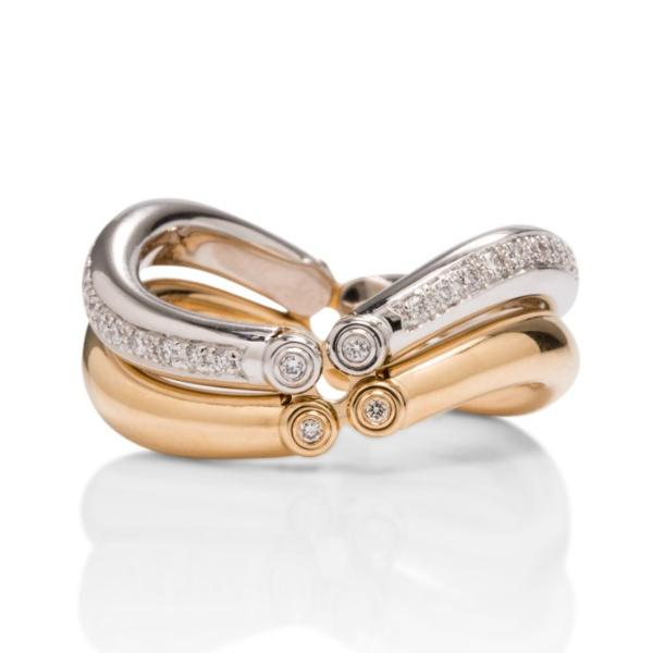 Jorg Heinz Multi-Row Diamond Ring With Movement - Charles Koll Jewellers