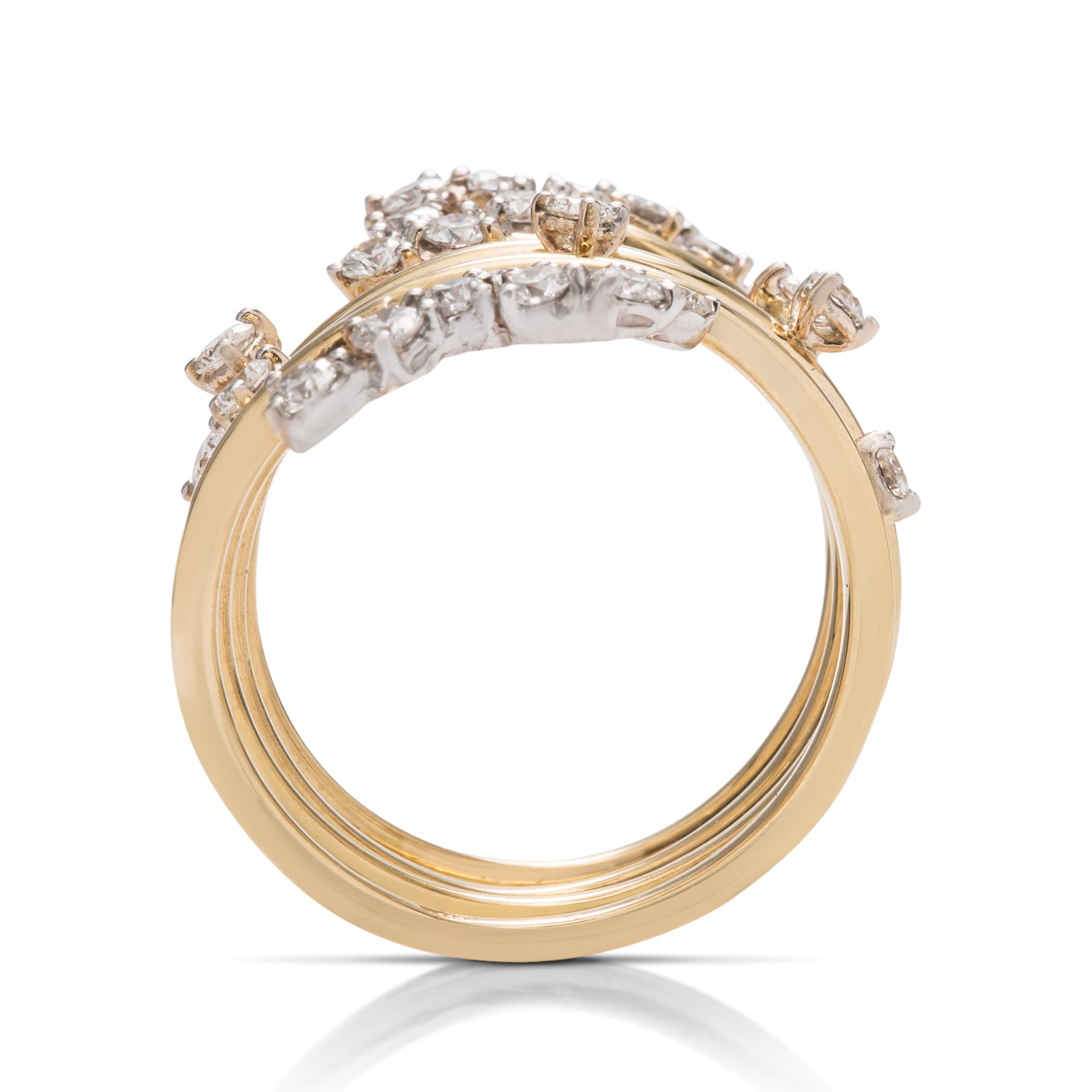 Scattered Diamond Loop Ring - Charles Koll Jewellers