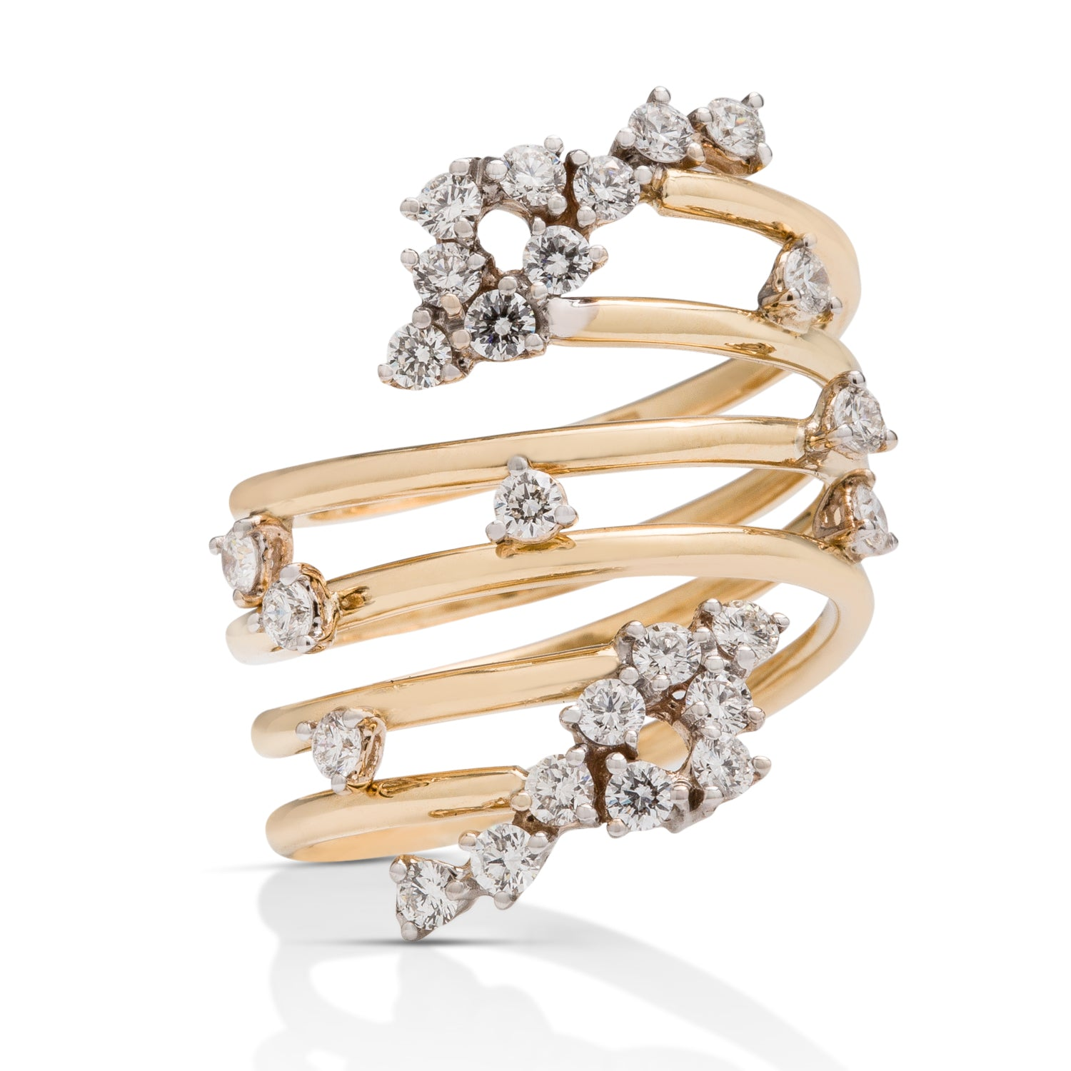 Scattered Diamond Loop Ring