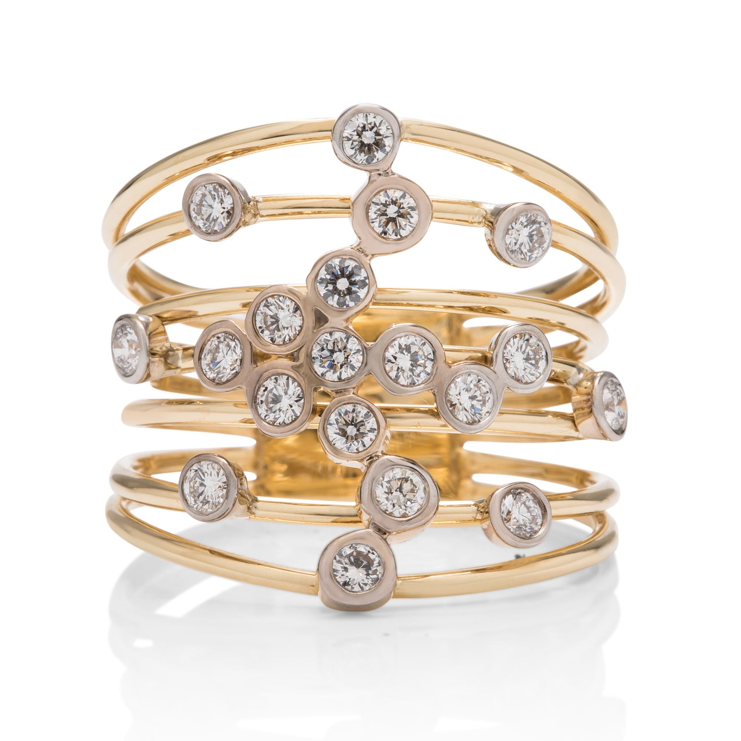 Multi-Row Scattered Diamond Ring - Charles Koll Jewellers
