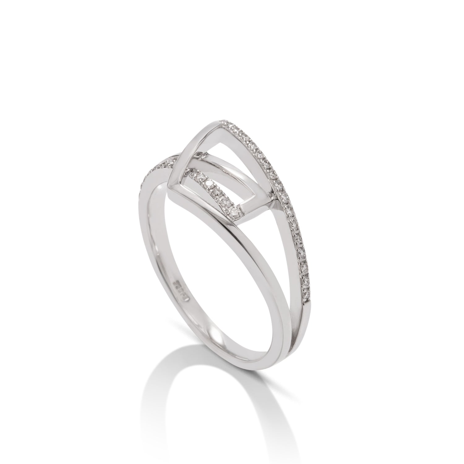 18k White Gold Fashion Diamond Ring - Charles Koll Jewellers