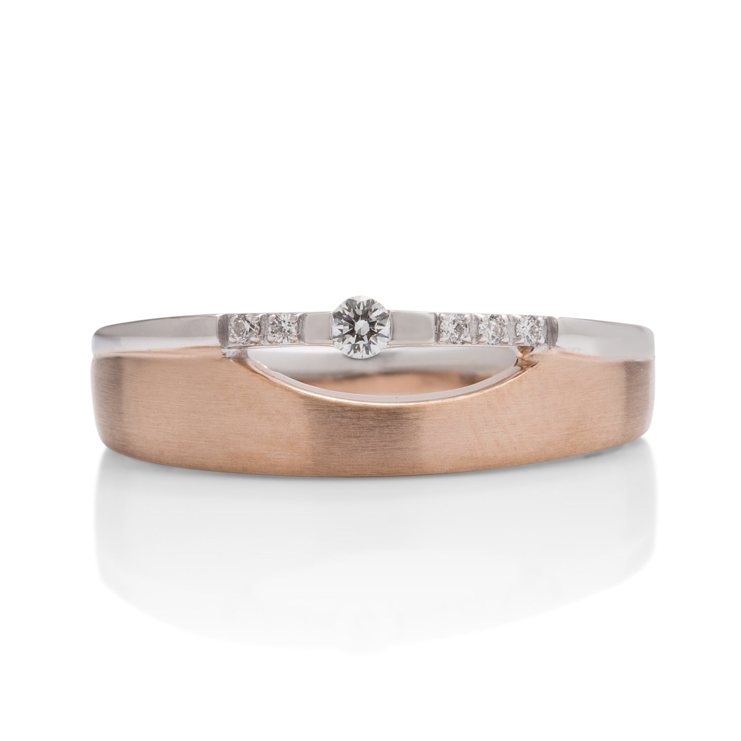 18k White and Rose Gold Diamond Ring - Charles Koll Jewellers