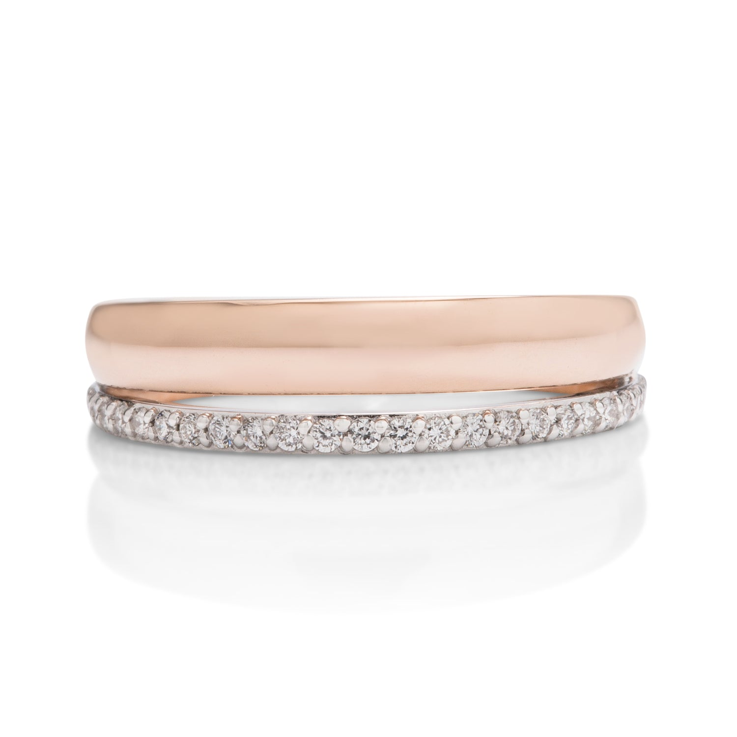 Double Row Two-Tone Ring - Charles Koll Jewellers