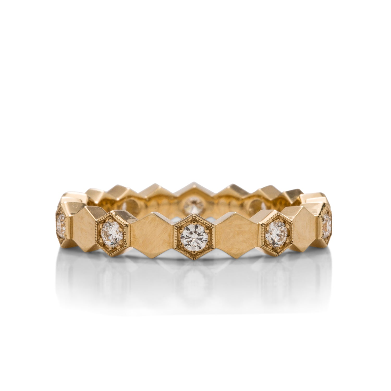 Hexagon Diamond Eternity Band - Charles Koll Jewellers