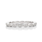Marquise Shaped Stackable Platinum Band - Charles Koll Jewellers