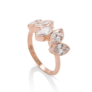 5 Stone Marquise Ring - Charles Koll Jewellers