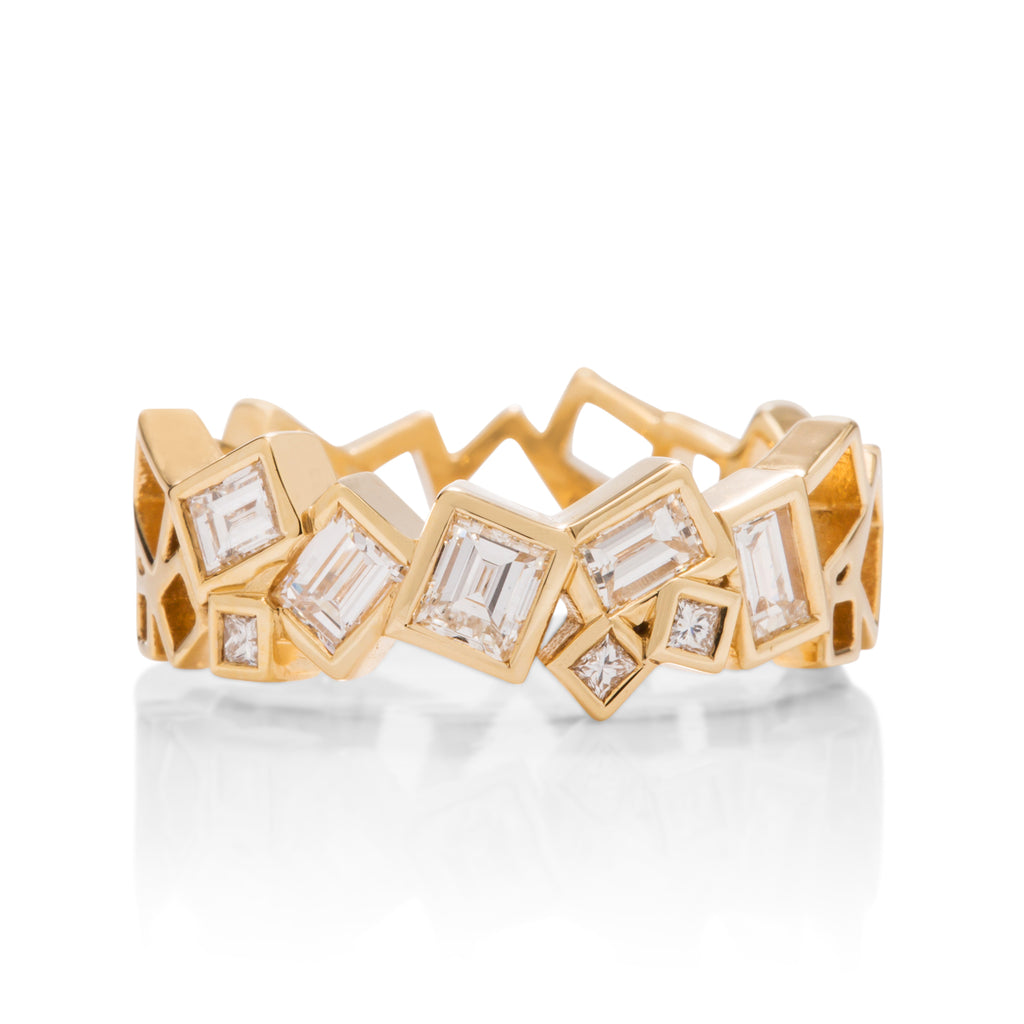 Scattered Geo Diamond Band