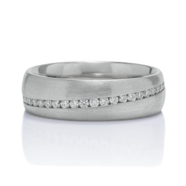 Khai White Gold and Diamond Men's Band - Charles Koll Jewellers